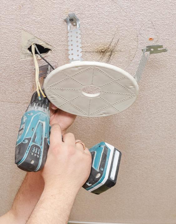 Unterkonstruktion für Lampen für Spanndecke