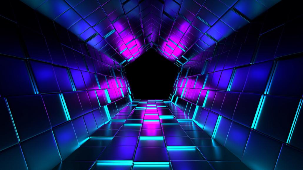 Spanndecken Motiv 05 -104 | Abstrakt | Muster | Licht | Perspektive