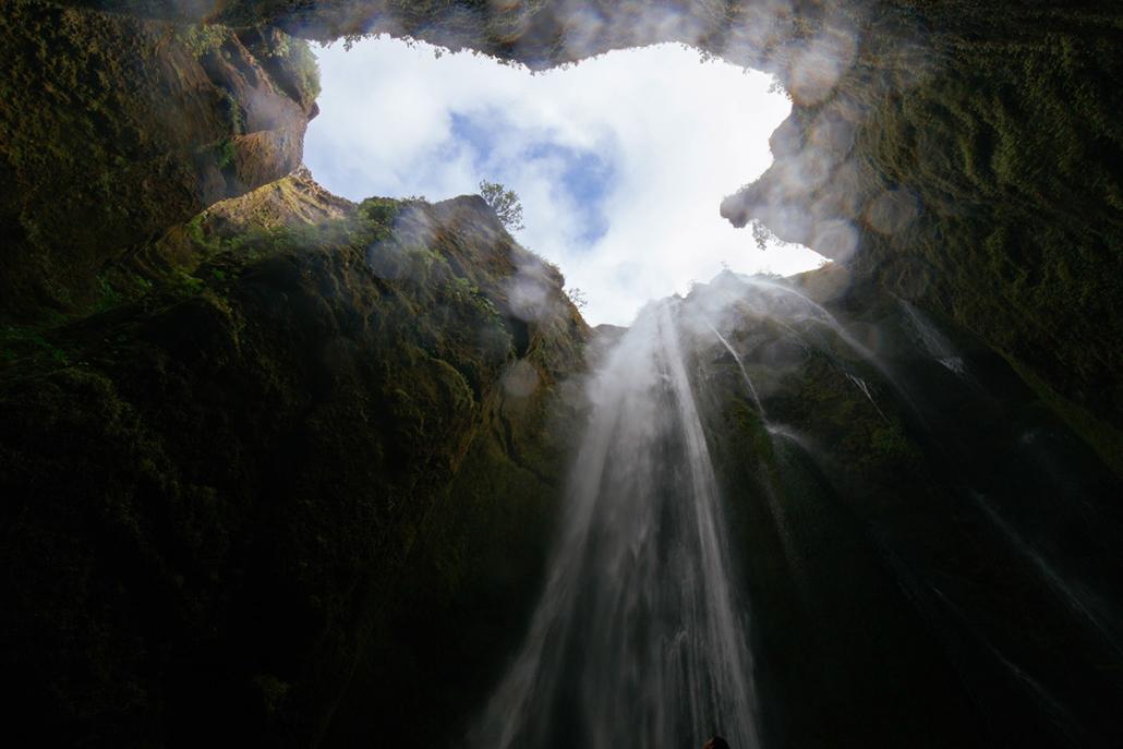 Spanndecken Motiv 04-104 | Natur | Landschaft | Wasserfall | Fels | Wandmotiv | Deckenmotiv