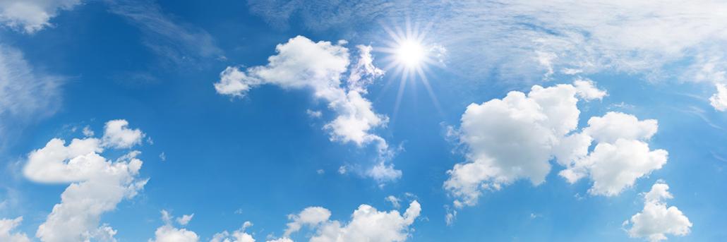 Spanndecken Motiv 01-111 | Sonne | Wolken | Himmel