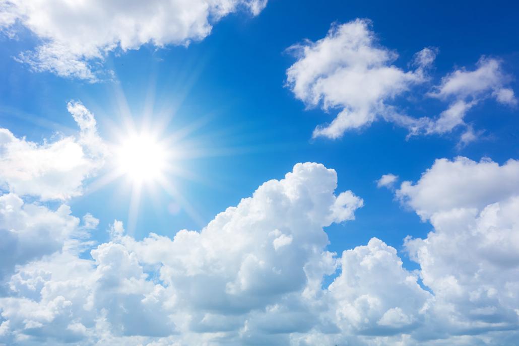 Spanndecken Motiv 01-110 | Sonne | Wolken | Himmel
