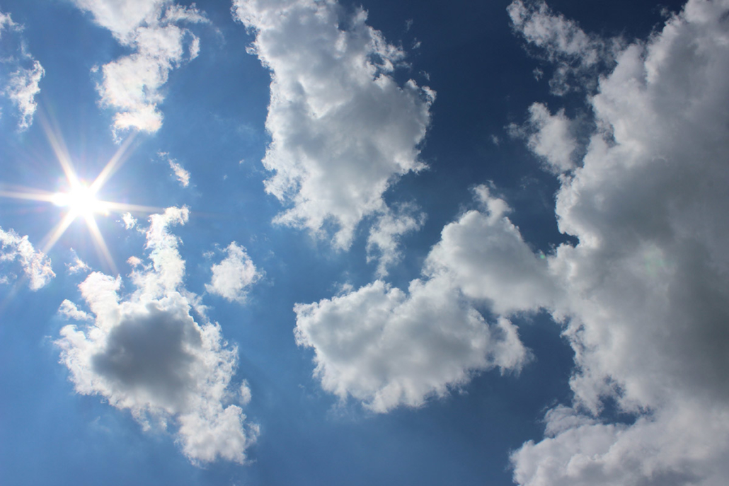 Spanndecken Motiv 01-106 | Sonne | Wolken | Himmel