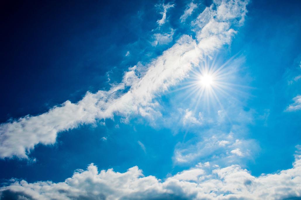 Spanndecken Motiv 01-103 | Sonne | Wolken | Himmel