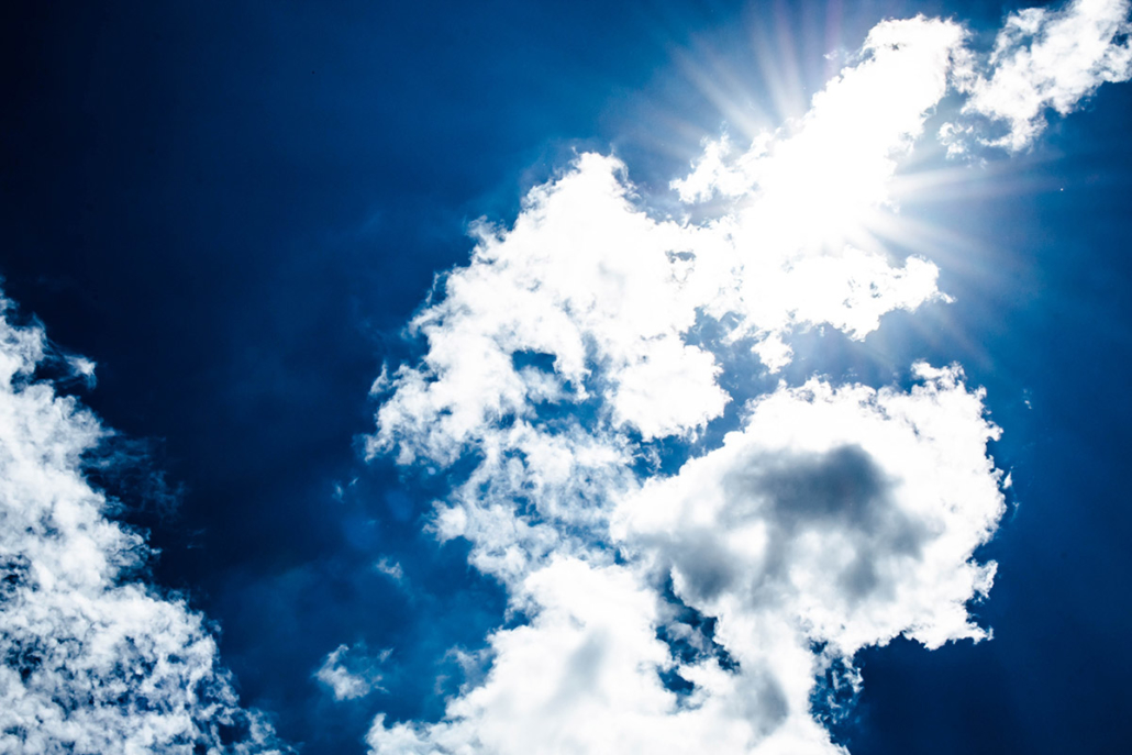 Spanndecken Motiv 01-101 | Sonne | Wolken | Himmel