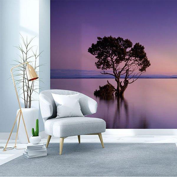 Bedruckte Spanndecke an der Wand